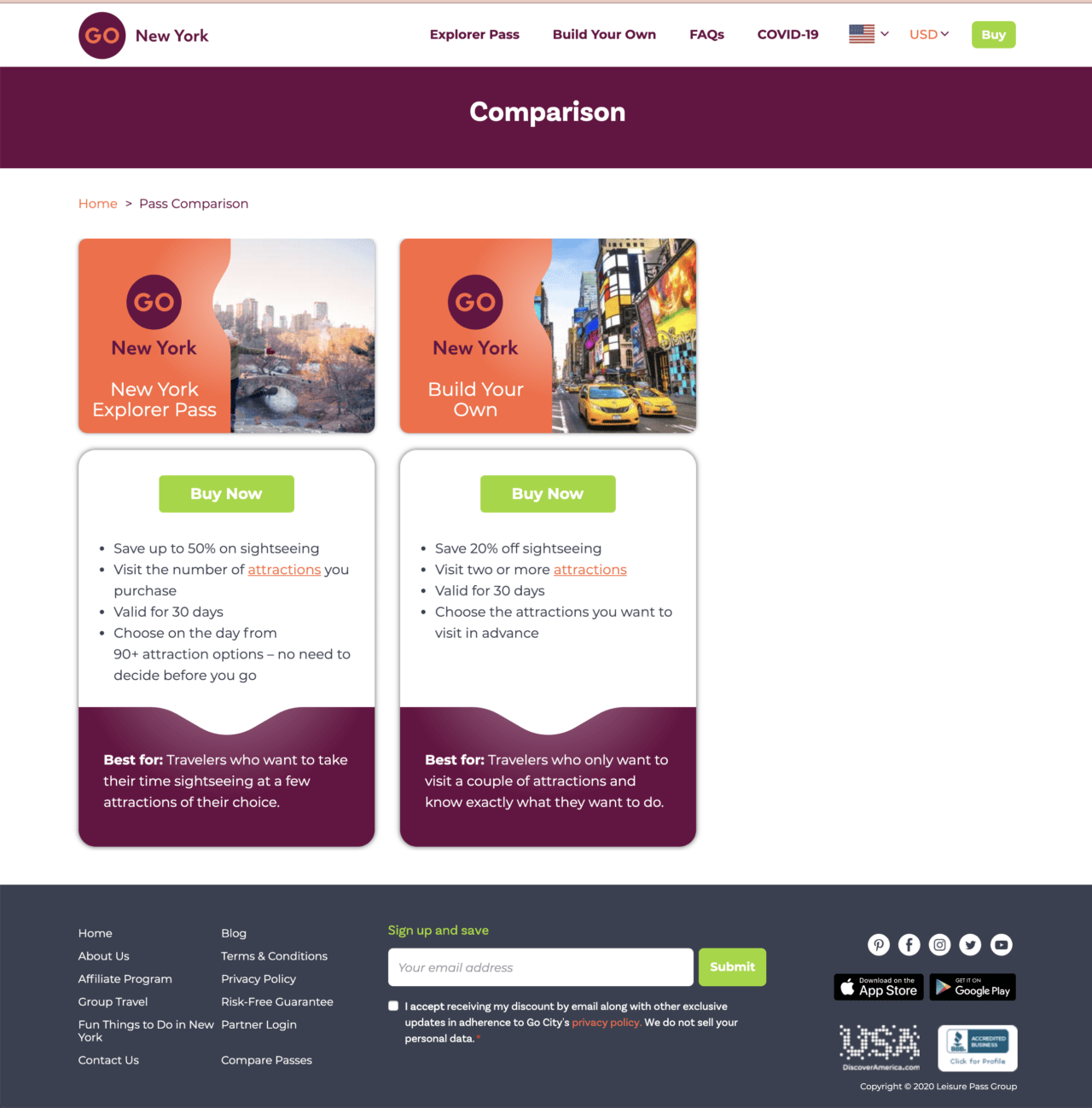 Go New York Explorer Pass – Option to pick Explorer Pass or Build Your Own