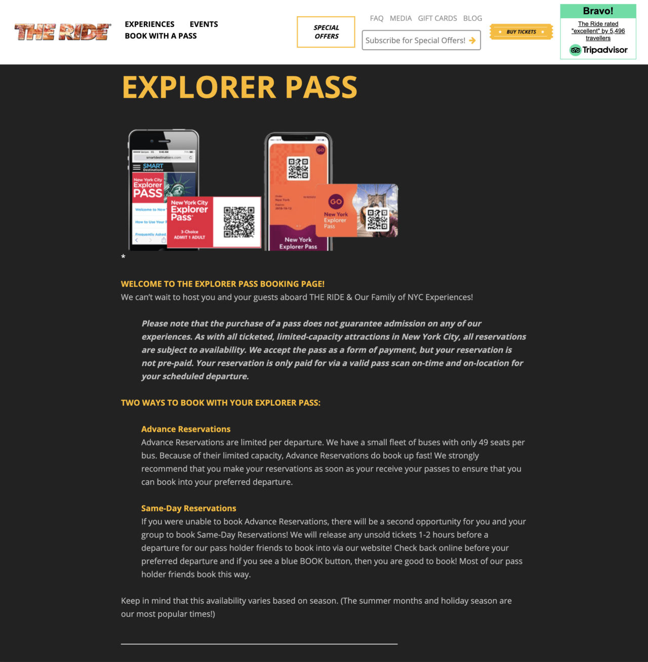 Go New York Pass Guide – Booking The RIDE – Step 2
