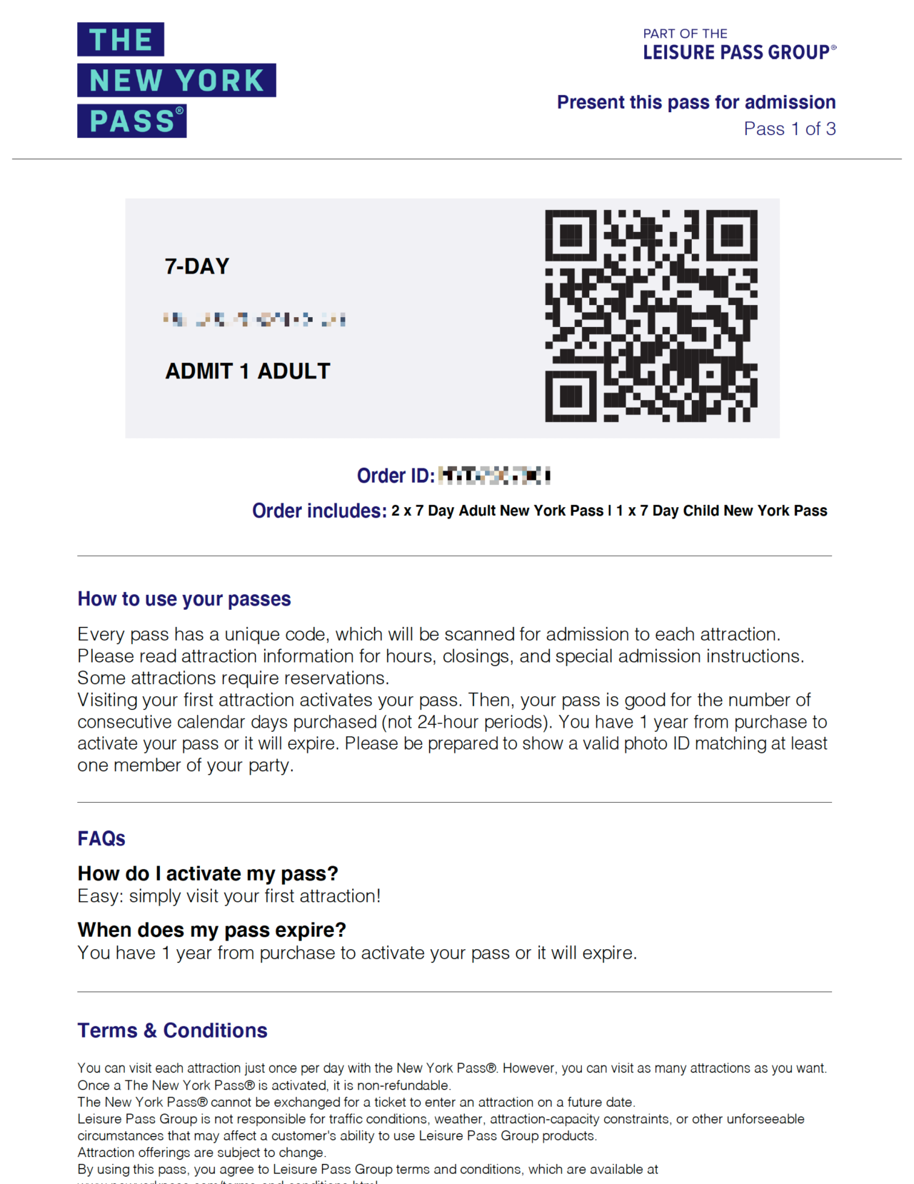 New York Pass Guide – PDF with QR code